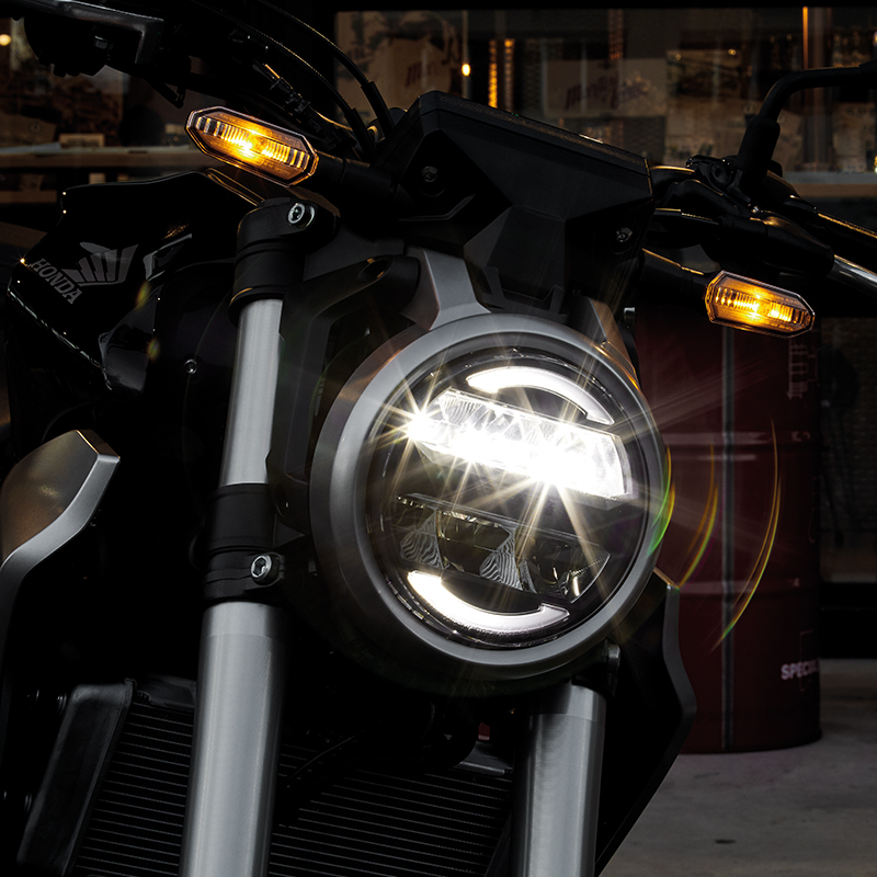 Round-Shaped LED Headlight